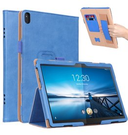 Lunso Luxe stand flip cover hoes - Lenovo Tab M10 - Blauw