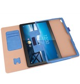 Lunso Luxe stand flip cover hoes Blauw voor de Lenovo Tab M10