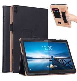 Lunso Luxe stand flip cover hoes - Lenovo Tab M10 - Zwart