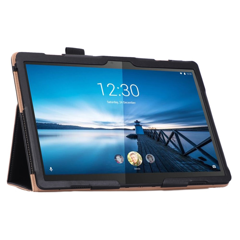 Lunso Luxe stand flip cover hoes Zwart voor de Lenovo Tab M10