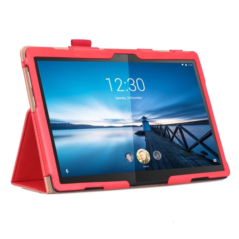Lunso Luxe stand flip cover hoes Roze voor de Lenovo Tab M10
