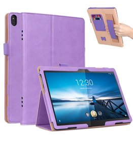 Lunso Luxe stand flip cover hoes - Lenovo Tab M10 - Lila