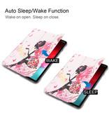 Lunso 3-Vouw sleepcover hoes Fee voor de iPad Pro 11 inch (2020)