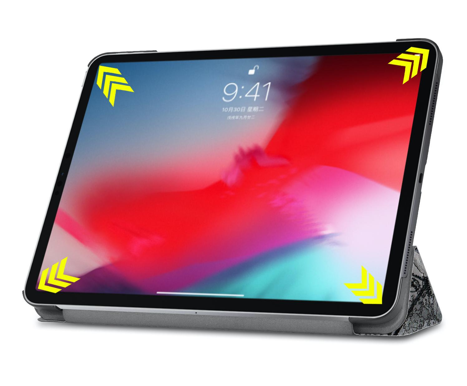 Lunso 3-Vouw sleepcover hoes Eiffeltoren voor de iPad Pro 11 inch (2020)