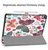 Lunso 3-Vouw sleepcover hoes Vlinders voor de iPad Pro 11 inch (2020)