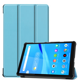 Lunso 3-Vouw sleepcover hoes - Lenovo Tab M8 - Lichtblauw
