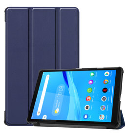 Lunso 3-Vouw sleepcover hoes - Lenovo Tab M8 - Blauw