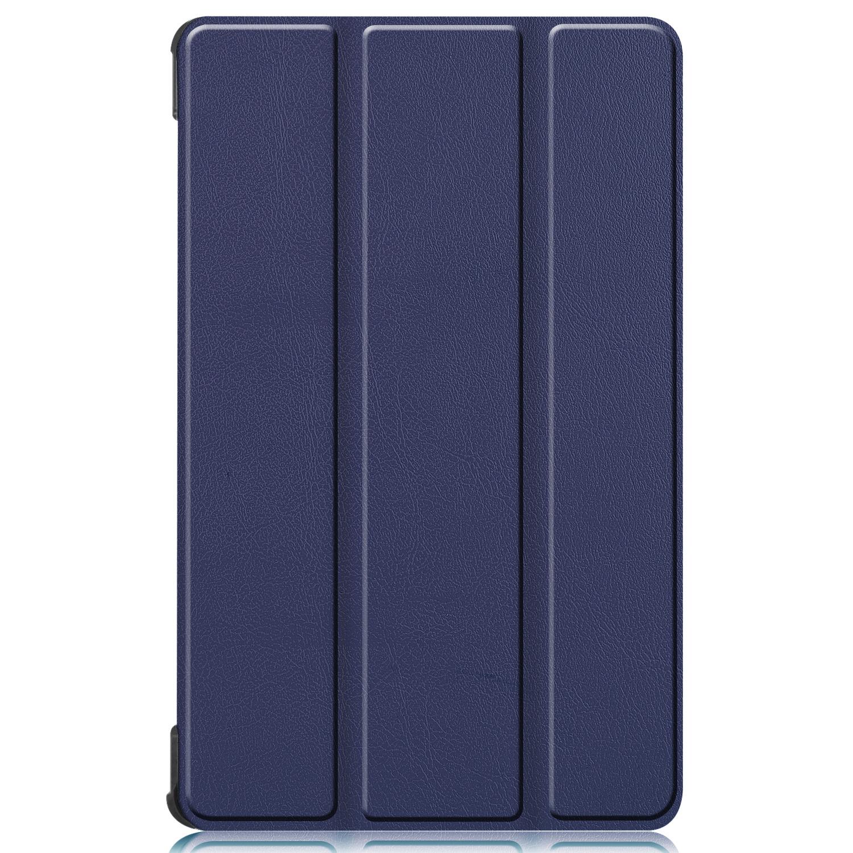 Lunso 3-Vouw sleepcover hoes Blauw voor de Lenovo Tab M8