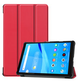 Lunso 3-Vouw sleepcover hoes Rood voor de Lenovo Tab M8