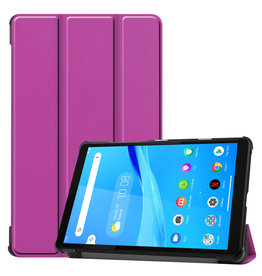 Lunso 3-Vouw sleepcover hoes - Lenovo Tab M8 - Paars