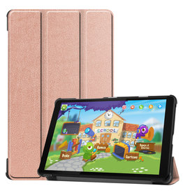 Lunso 3-Vouw sleepcover hoes - Lenovo Tab M8 - Rose Goud