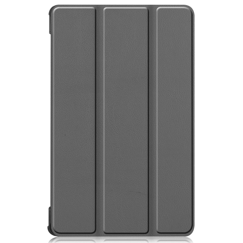 Lunso 3-Vouw sleepcover hoes Grijs voor de Lenovo Tab M8