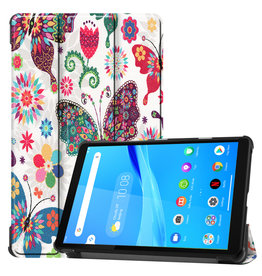 Lunso 3-Vouw sleepcover hoes - Lenovo Tab M8 - Vlinders