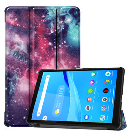 Lunso 3-Vouw sleepcover hoes - Lenovo Tab M8 - Galaxy