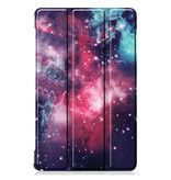 Lunso 3-Vouw sleepcover hoes Galaxy voor de Lenovo Tab M8