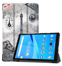 Lunso 3-Vouw sleepcover hoes - Lenovo Tab M8 - Eiffeltoren