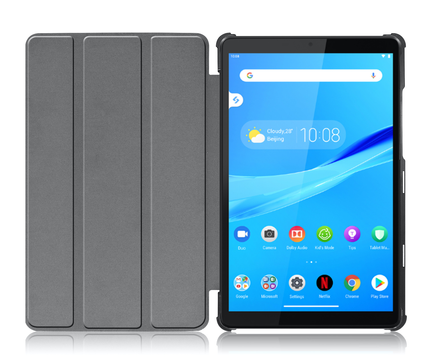 Lunso 3-Vouw sleepcover hoes Graffiti voor de Lenovo Tab M8