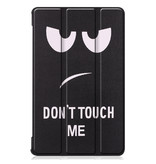 Lunso 3-Vouw sleepcover hoes Don't Touch voor de Lenovo Tab M8