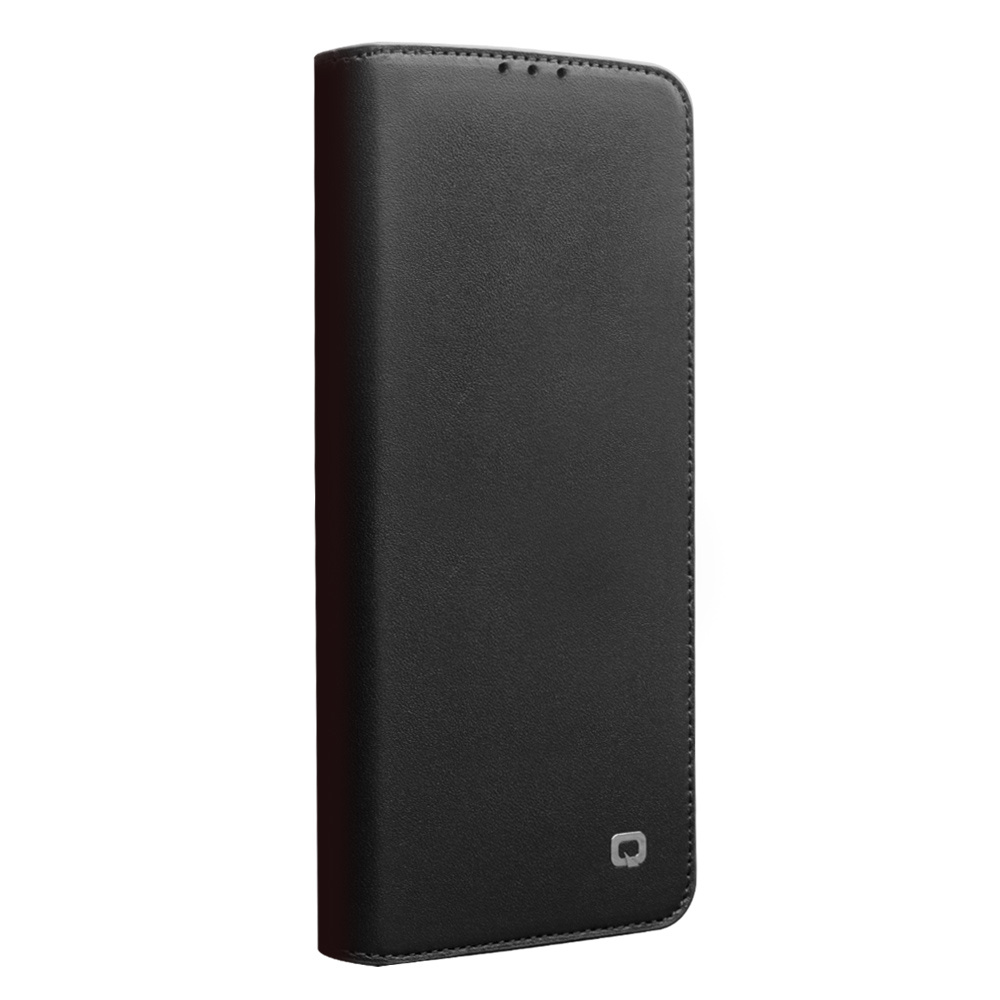 Qialino echt lederen luxe wallet hoes Zwart voor de Huawei P40