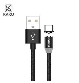 iKaku iKaku - Magnetische oplaadkabel (2.4A) - 1 meter - Zwart - Type-C USB