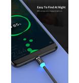 iKaku Type-C USB magnetische oplaadkabel 1 meter Rood voor Android-apparaten
