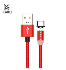 iKaku iKaku - Magnetische oplaadkabel (2.4A) - 1 meter - Rood - Type-C USB