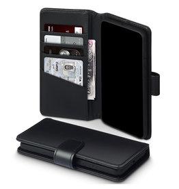 Qubits Qubits - luxe echt lederen wallet hoes - Huawei P40 - Zwart