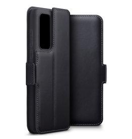 Qubits Qubits - lederen slim folio wallet hoes - Huawei P40 - Zwart