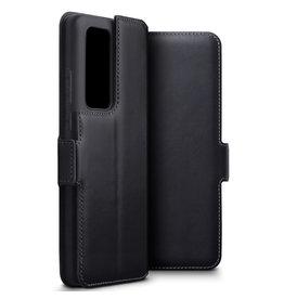 Qubits Qubits - lederen slim folio wallet hoes - Huawei P40 Pro - Zwart