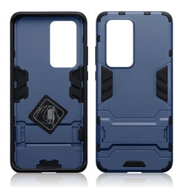 Qubits Qubits - Double Armor Layer hoes met stand - Huawei P40 Pro - Blauw