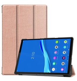 Lunso 3-Vouw sleepcover hoes - Lenovo Tab M10 FHD Plus - Rose Goud