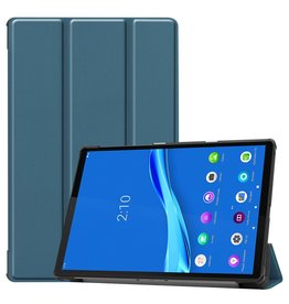 Lunso 3-Vouw sleepcover hoes - Lenovo Tab M10 FHD Plus - Donkergroen