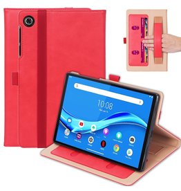 Lunso Luxe stand flip cover hoes - Lenovo Tab M10 FHD Plus - Rood