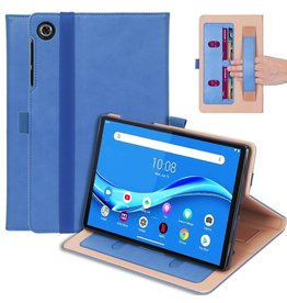 Lunso Luxe stand flip cover hoes - Lenovo Tab M10 FHD Plus - Lichtblauw