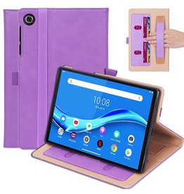Lunso Luxe stand flip cover hoes - Lenovo Tab M10 FHD Plus - Lila