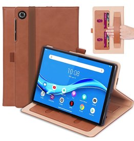 Lunso Luxe stand flip cover hoes - Lenovo Tab M10 FHD Plus - Bruin