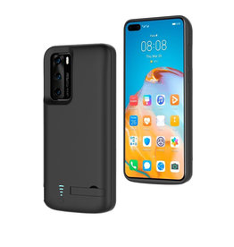 Lunso Lunso - Battery Power Case hoes - Huawei P40 - 4800 mAh - Zwart