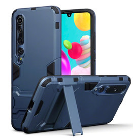 Qubits Qubits - Double Armor Layer hoes met stand - Xiaomi Mi 10 - Blauw