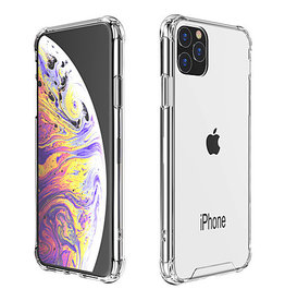 Lunso Schokbestendige softcase hoes - iPhone 11 Pro Max - Transparant