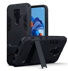 Qubits Qubits - Double Armor Layer hoes met stand - Huawei Mate 30 Lite - Zwart