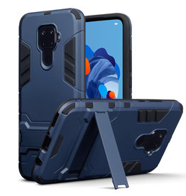 Qubits Qubits - Double Armor Layer hoes met stand - Huawei Mate 30 Lite - Blauw