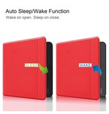 Lunso Sleepcover flip hoes Rood voor de Kobo Forma (8 inch)