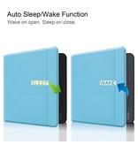 Lunso Sleepcover flip hoes Lichtblauw voor de Kobo Forma (8 inch)