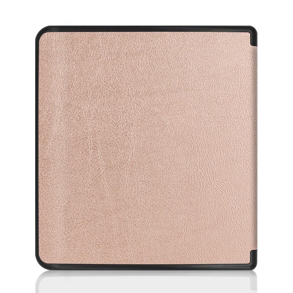 Lunso Sleepcover flip hoes Rose Goud voor de Kobo Forma (8 inch)