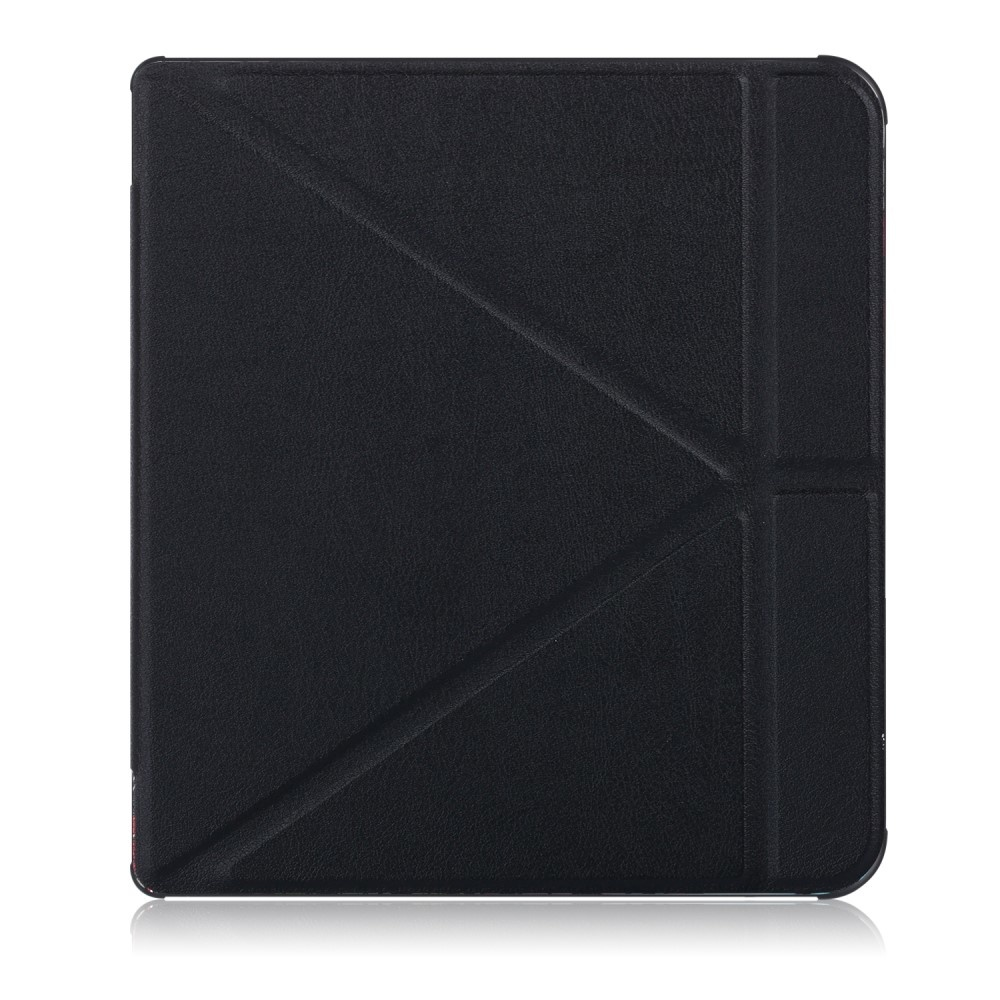 Lunso Sleepcover origami hoes Zwart voor de Kobo Forma