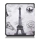 Lunso Sleepcover origami hoes Eiffeltoren voor de Kobo Forma (8 inch)