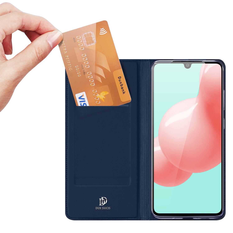 Dux Ducis Pro serie slim wallet Blauw hoes voor de Samsung Galaxy A41