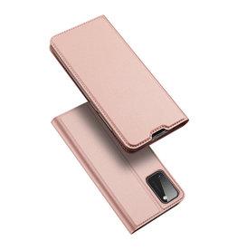 Dux Ducis Dux Ducis - pro serie slim wallet hoes - Samsung Galaxy A41 - Rose Goud
