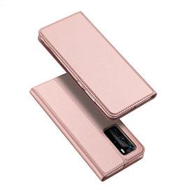 Dux Ducis Dux Ducis pro serie - slim wallet hoes - Huawei P40  Pro - Rose Goud