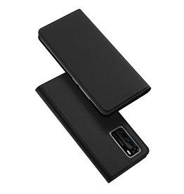 Dux Ducis Dux Ducis pro serie - slim wallet hoes - Huawei P40 - Zwart